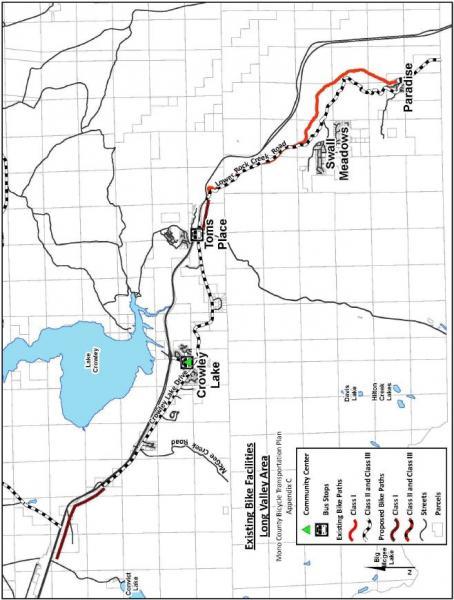 Appendix H Bike Plan Mono County California - Crowley lake map