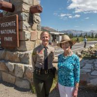 Photo of Laura Bush at Yosemite National Park