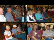 Collage of participants at a community meeting