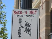 Back in angle parking sign