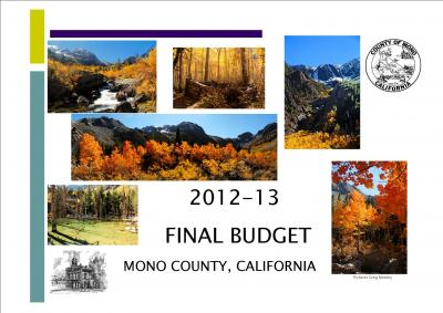 Graphic showing cover of 2012-2013 Budget