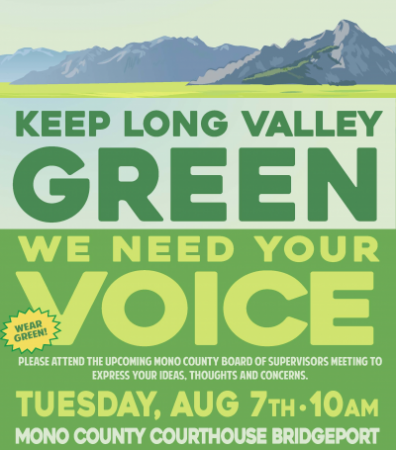 Keep Long Valley Green Poster