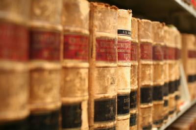 Picture of law books on a shelf
