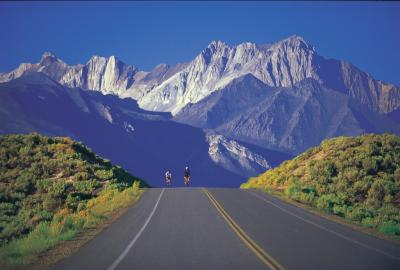 Photo of cyclists on Benton Crossing Road