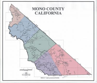 Mono County Sheriff's Department Beat Map
